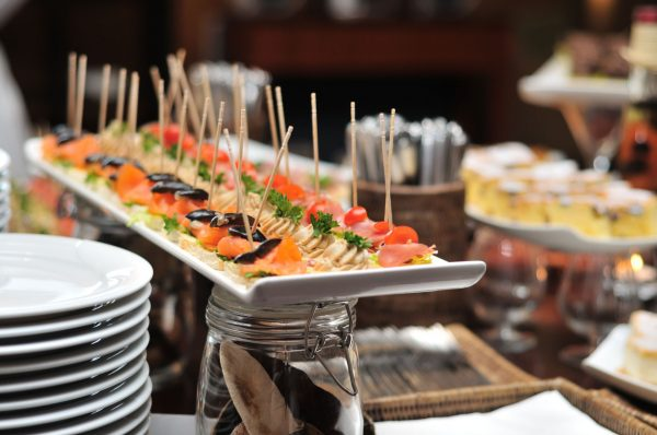hors d'oevre at corporate event
