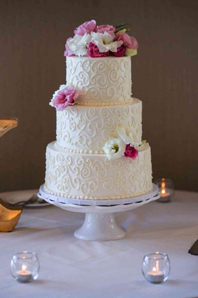 Swirls Simple Wedding Cake • The French Gourmet