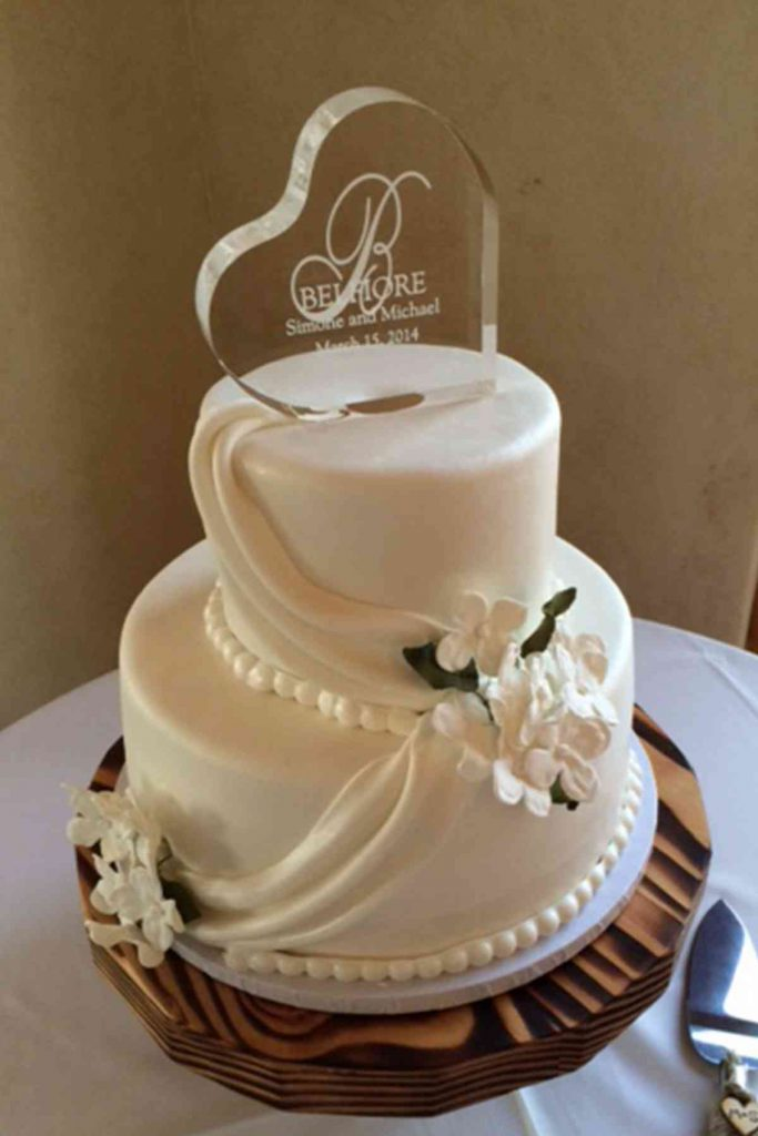 Elegant Wedding Cake With White Drapes The French Gourmet