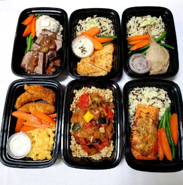 A selection of our to go meals including Braised Short-ribs, Duck Confit, Salmon, Chicken Picatta, Ratatouille, kids meals and more